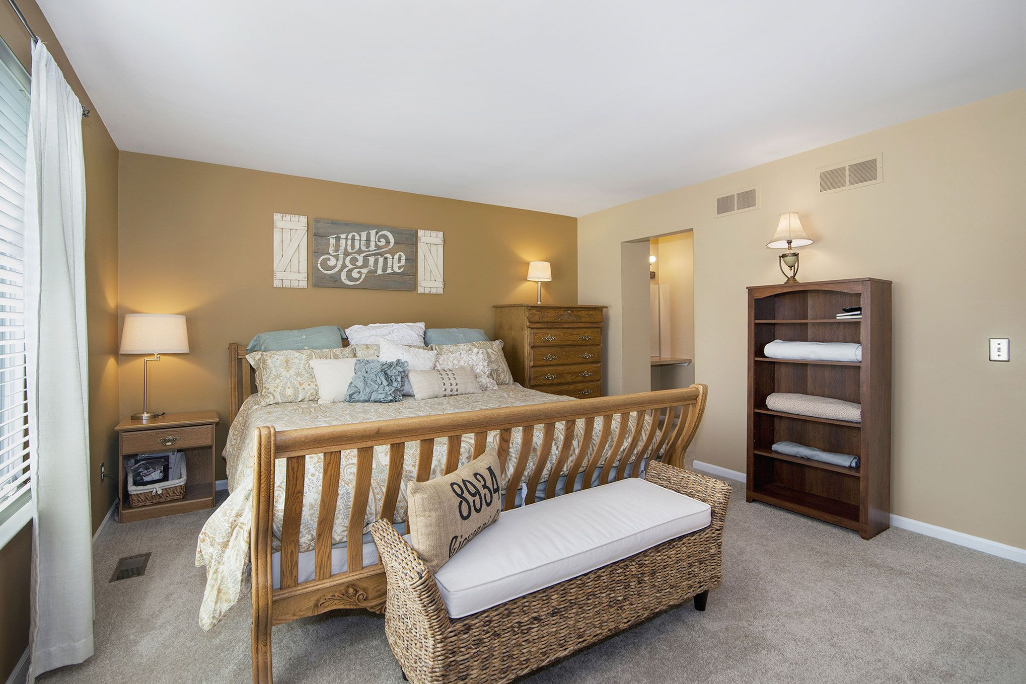 The Warmer Neutral Tone Choices Make This Master Bedroom Warm And Inviting Warm Bedroom Colors Neutral Bedrooms Room Colors
