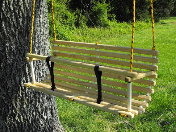 Rope Tree Swing For Two Toddlers Children By Quarrydesigns 48 00 Tree Swing Backyard Play Outdoor Gardens