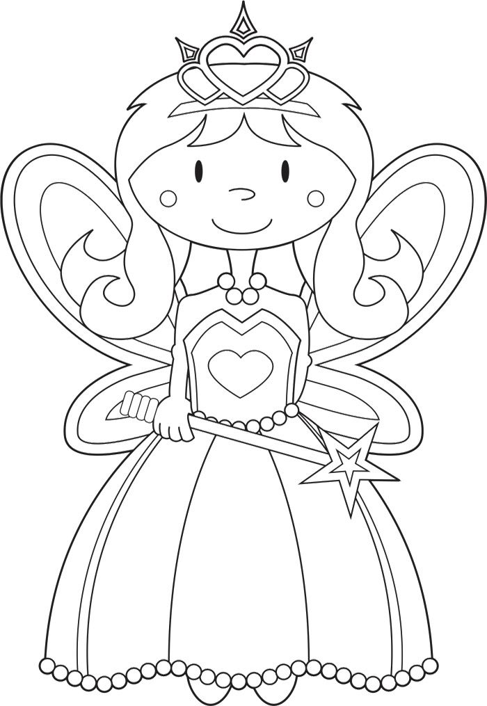 Fairy Princess Coloring Pages  omaovnky  Pinterest  Fairy