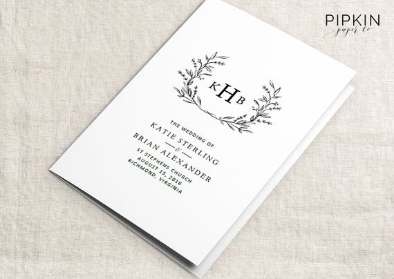 Printable Wedding Program Template Printable Wedding Template - download free wedding invitation templates for word