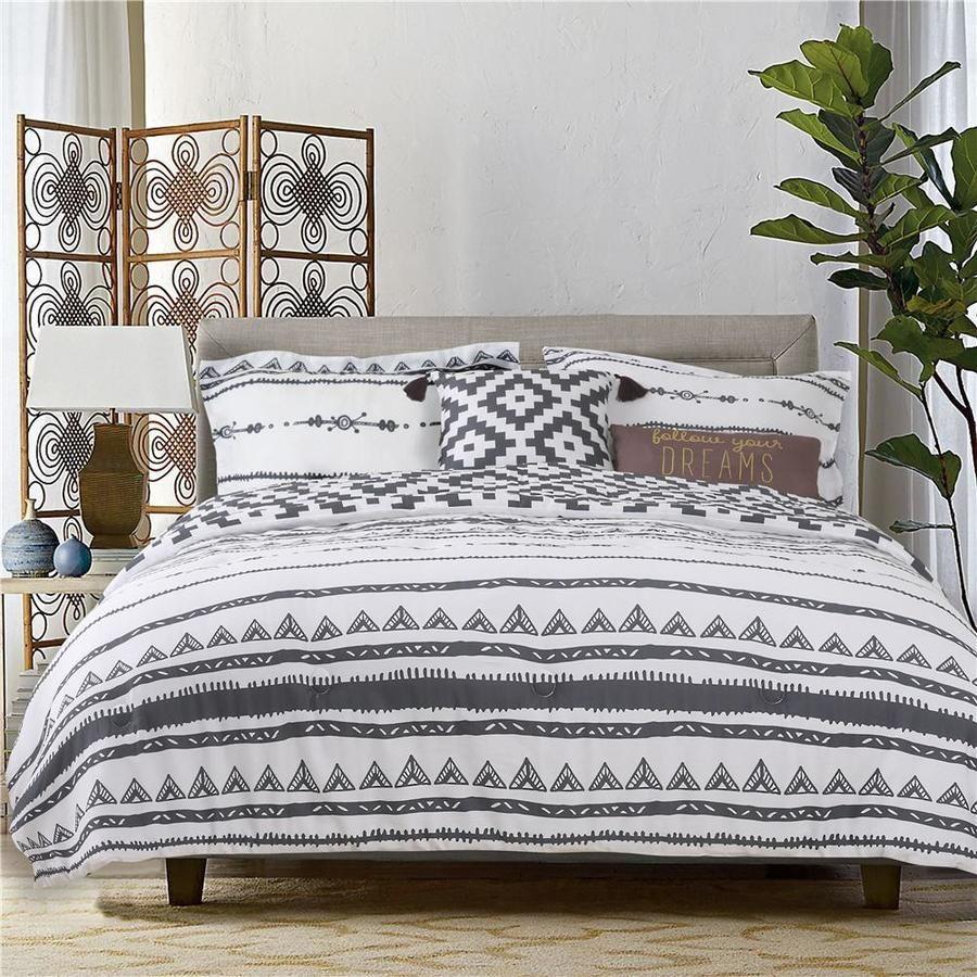Explore 5 Piece Charcoal Gray Creamy White Full Queen Comforter Set Lowes Com In 2021 Comforter Sets King Comforter Sets Queen Comforter Sets Cotton comforter set queen