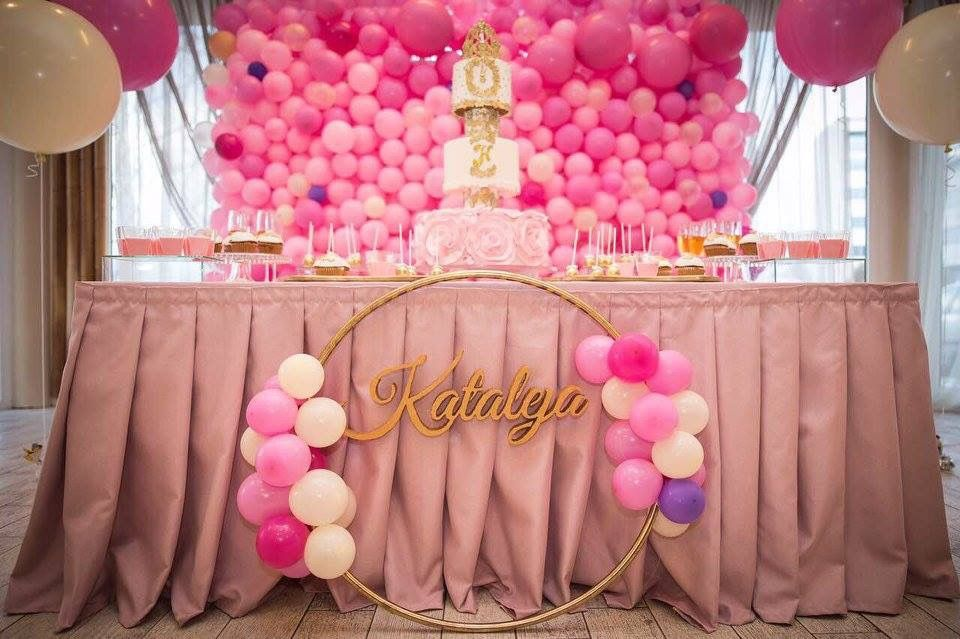 1000 Balloons Party Pink Ballons Birthday Decoration For First