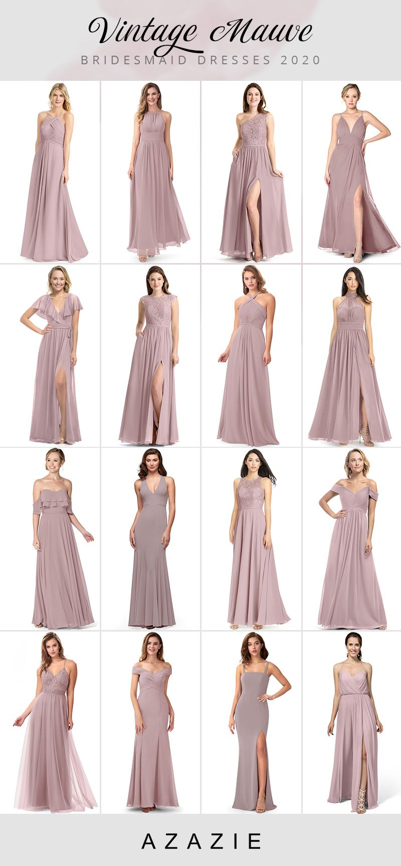 Vintage Mauve Bridesmaid Dresses At Affordable Prices In 2020 Mauve Bridesmaid Dress Vintage Bridesmaid Dresses Muave Bridesmaid Dresses