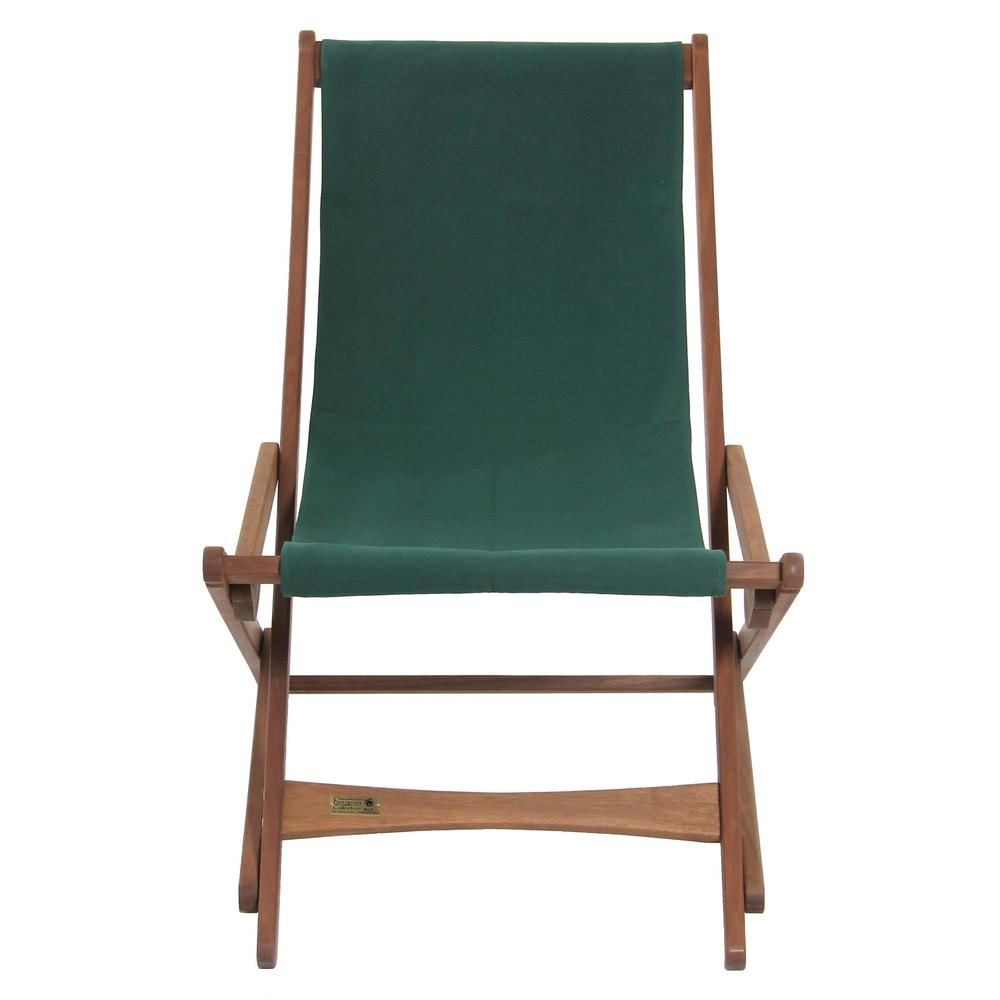 Byer Of Maine Green Fabric Outdoor Safe Folding Sling Chair 240p The Home Depot Outdoor Sling Chair Outdoor Safes Green Chair