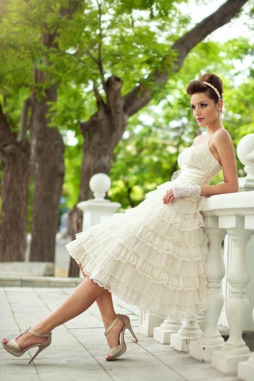 Modern Retro Wedding Dress Very Parisian Chic Bridal Wedges