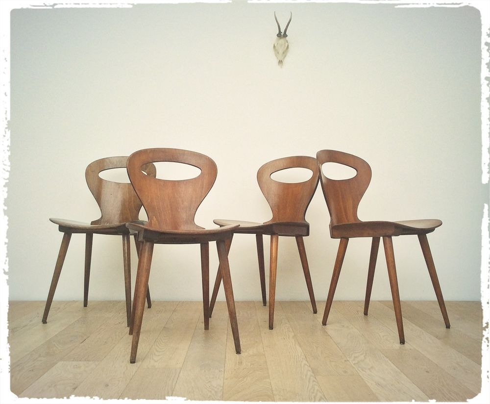 Oompa Chaise Bistrot Vintage Baumann Modele Fourmi Chair Coffee Table Home Decor