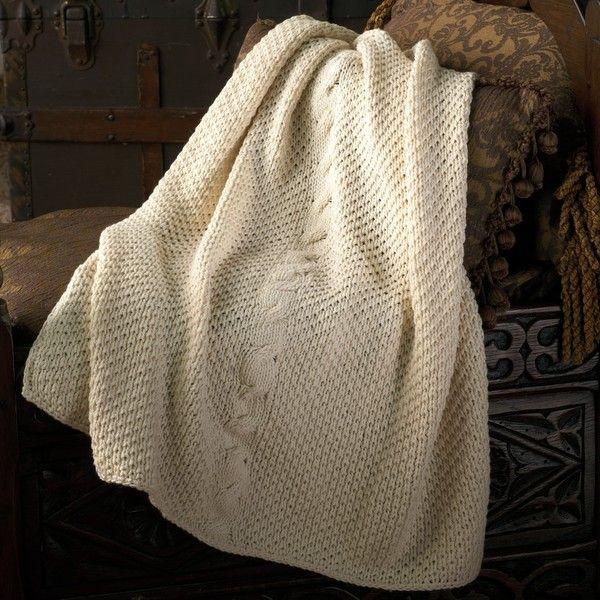 Appalachian Baby Irish Cable Baby Blanket Knitting Kit Blanket