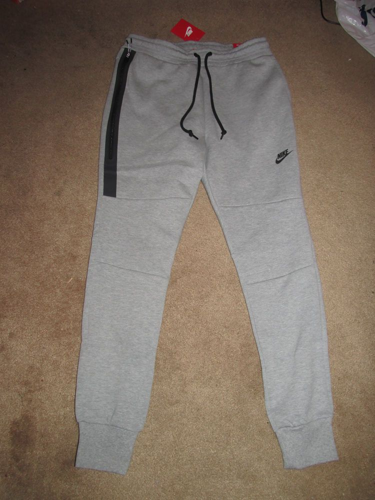3044d4a135c1 Nike Tech Fleece Mens Sweat Pants Heather Grey Black 545343 065  Nike   Sweats