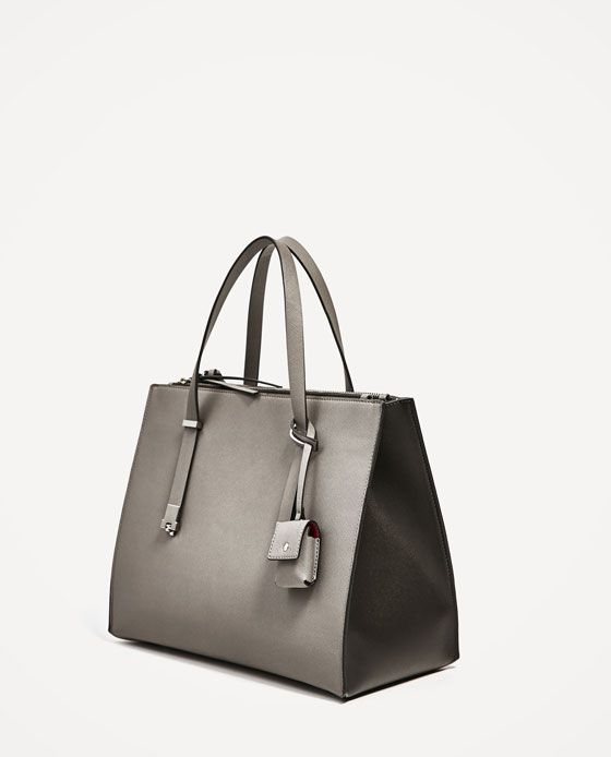 3ebad1c23981 Image 10 of CITY BAG WITH PENDANT from Zara