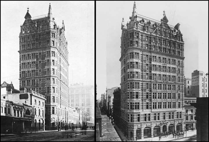 The Australian Building,situated on the corner of ...