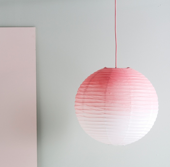 DIY: Ombre Pink Paper Lamp Shade   Remodelista
