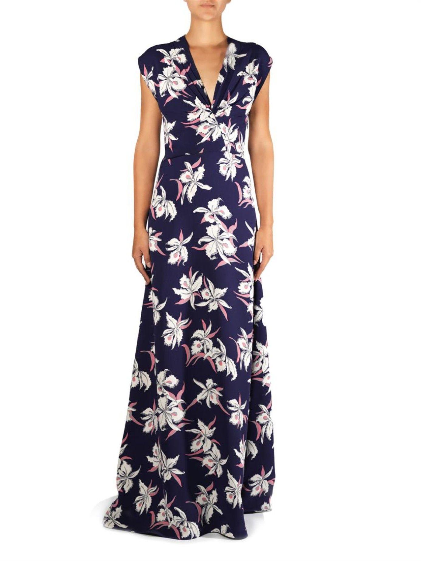 Floralprint wrap dress Marni MATCHESFASHION US