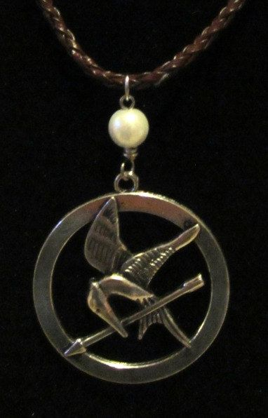 Silver Mockingjay Hunger Games by MadeByKatyCrafts on Etsy, $7.50