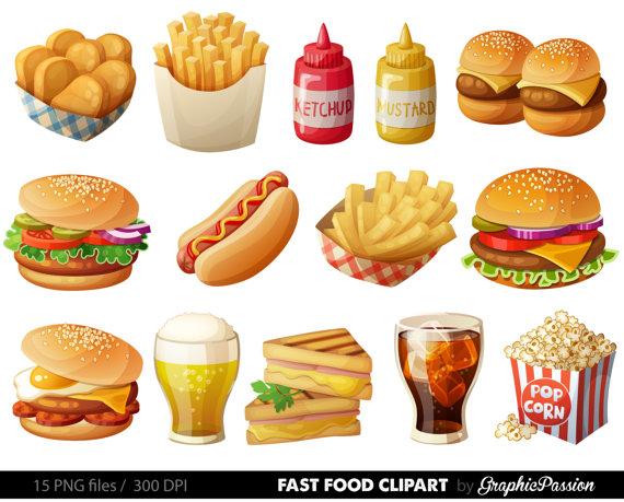 Fast Food Clipart Hamburger Clip Art Food By Graphicpassion Food Clipart Food Clips Fast Food