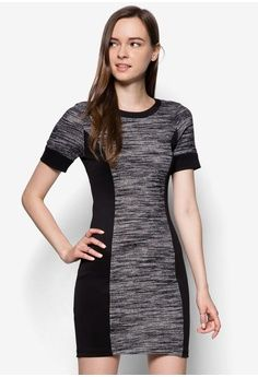 Textured Knitted Panel Dress