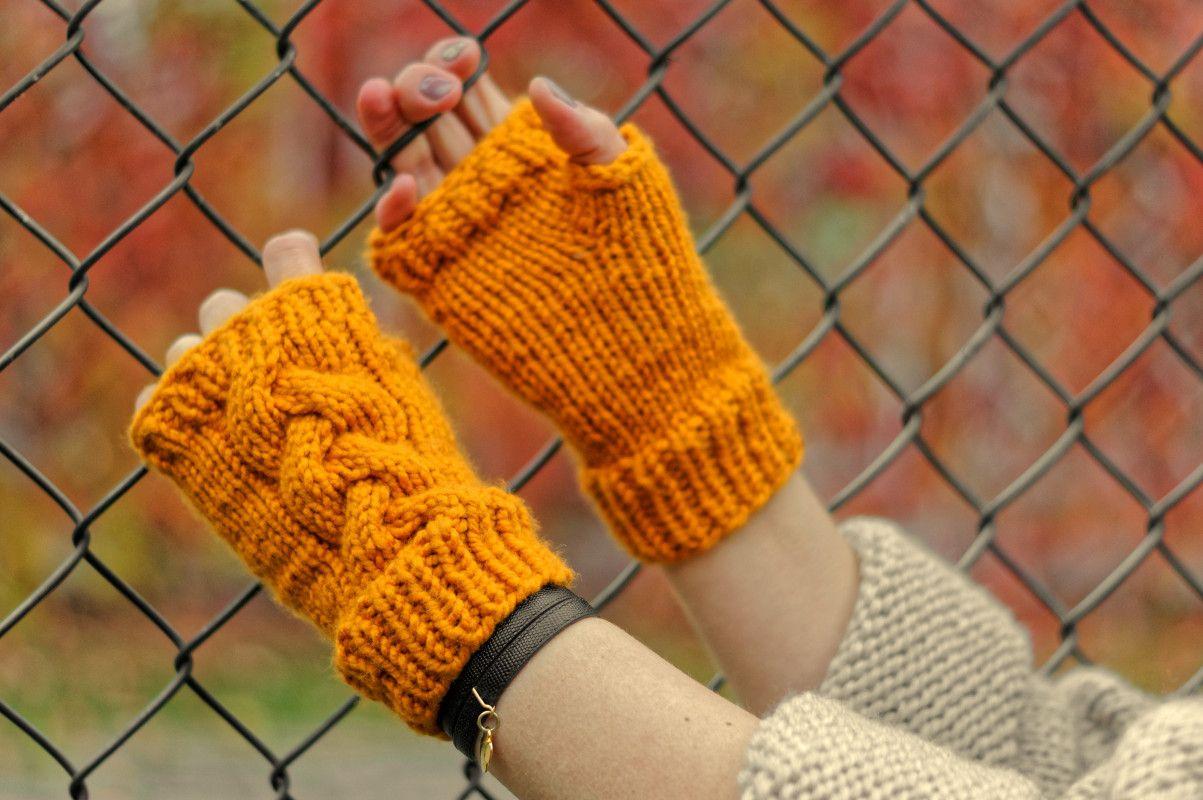 Mitenki Recznierobione Wloczka Rekawiczki Jesien Zima Moda Handmade Rekodzielo Wygoda Artyferia Arm Warmers Fingerless Winter Glove