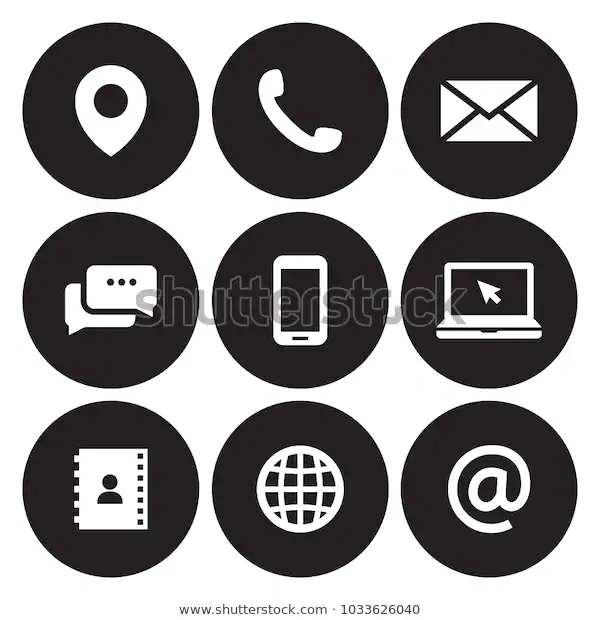 Contact Us Icons Stock Vector Royalty Free 1033626040