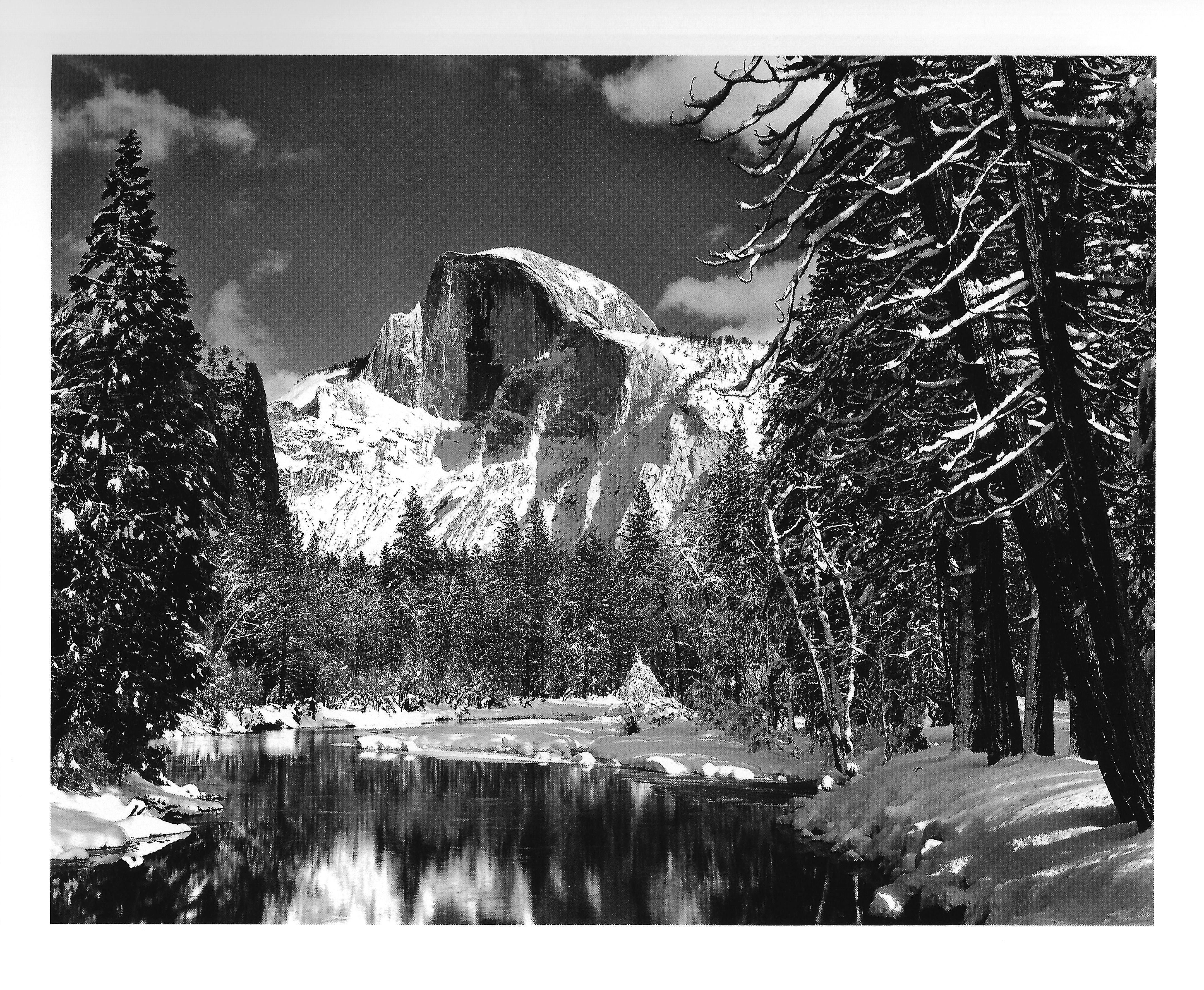 Another great photo of Half Dome Ansel Adams Half Dome Merced