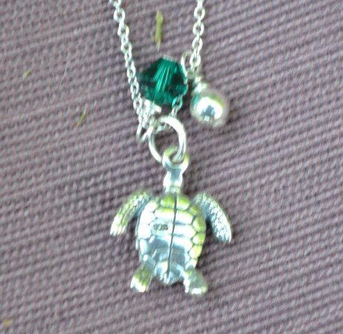 Turtle,  Necklace, sea turtle, sea turtle charm, turtle charm necklace, silver turtle necklace, charm necklace