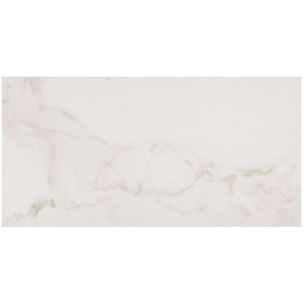 MARAZZI VitaElegante Bianco 12 in. x 24 in. Porcelain Floor and Wall ...