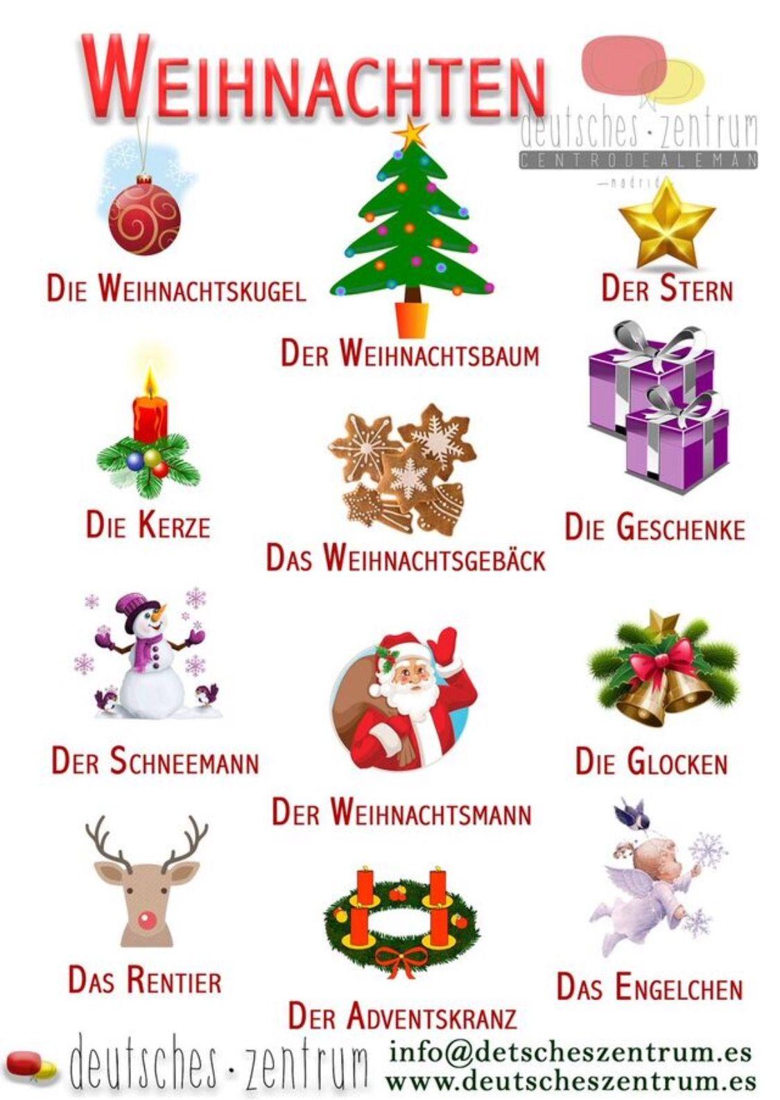 Weihnachten navidad wortschatz vocabulario grammatik alem n deutsch aleman - Weihnachten daf ...
