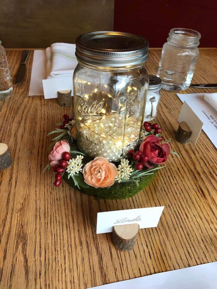 30th wedding anniversary center pieces with silk flowers ...