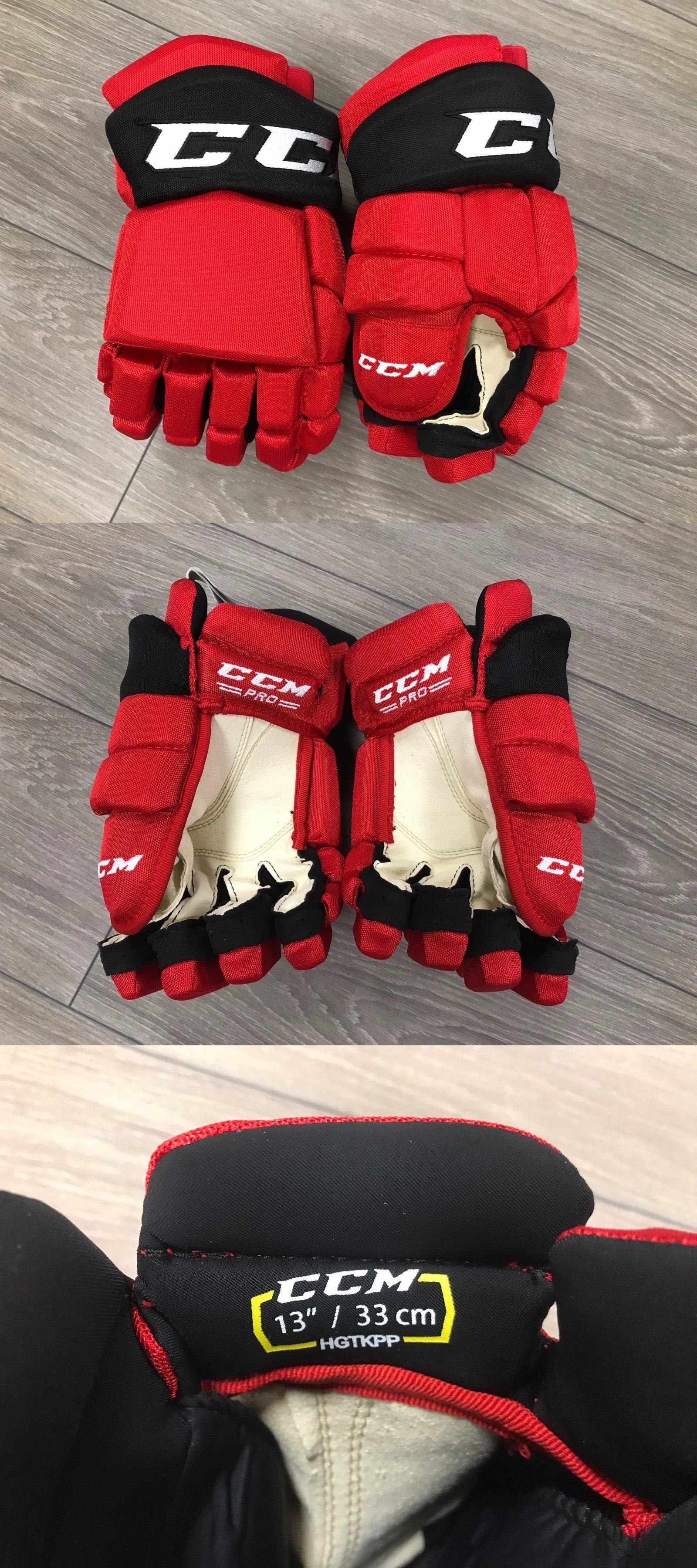 Ccm Tacks New Jersey Devils Nhl Pro Stock Return Hockey Player Gloves 13 -   BUY IT NOW ONLY   209 on eBay! 451f617f6d0