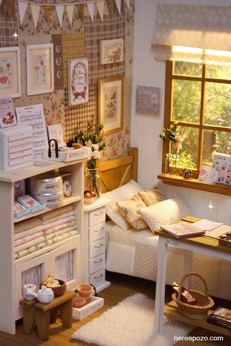 Nerea Pozo Art: ♥ Handmade miniature diorama NATURE ZAKKA BEDROOM ♥