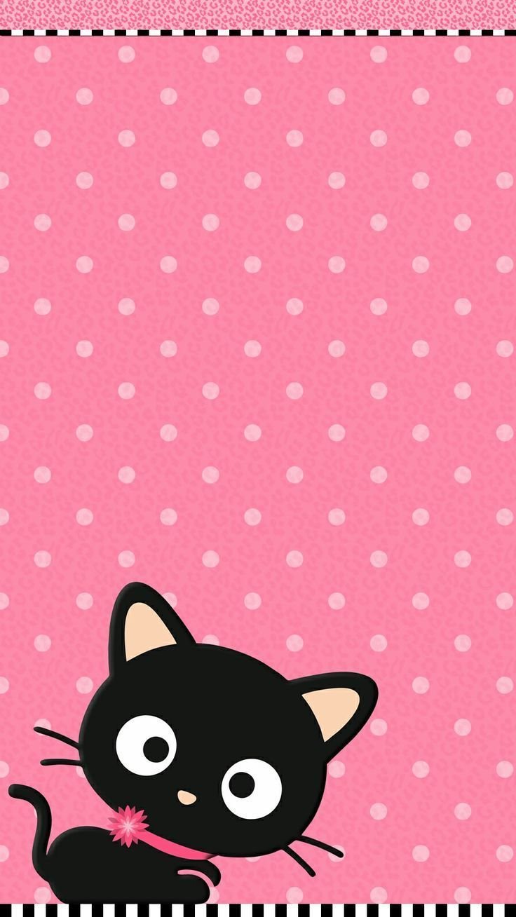 Cute Pink Cat Wallpaper