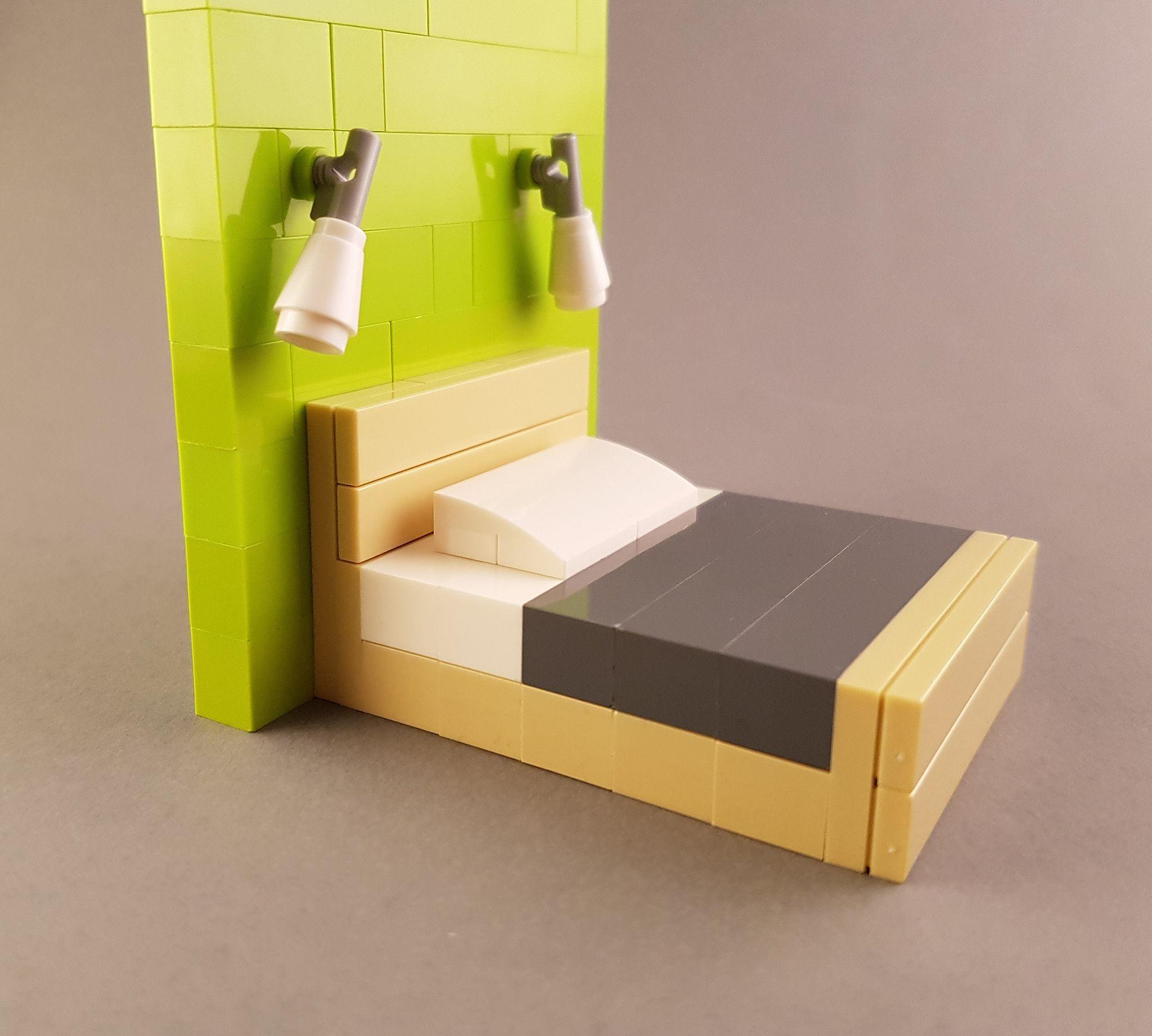 Photo of Bed MOC inspired by Scandinavian design II