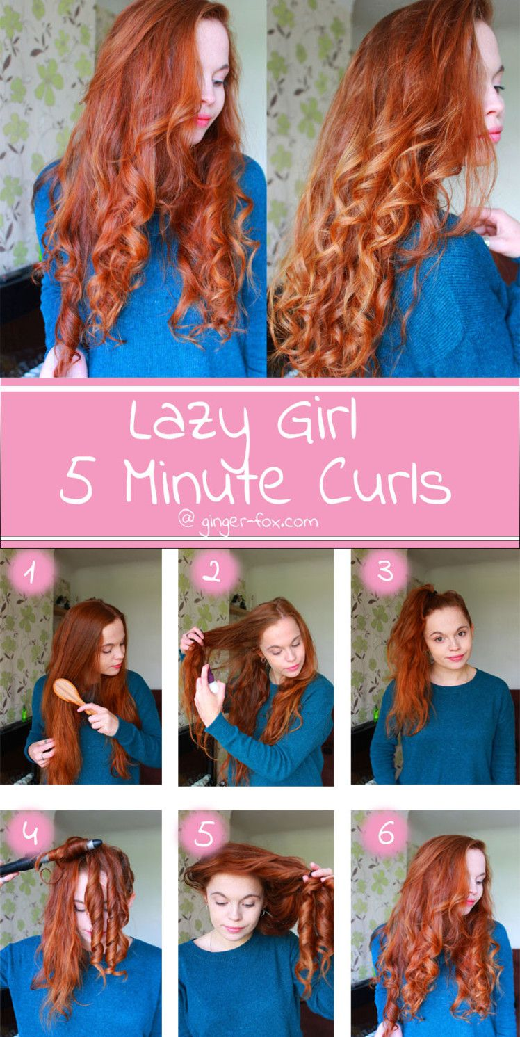 easy 5 minute curls lazy girls