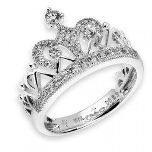 08a4a08caa CROWN Prince Princess Queen Royal Tiara Diamond Ring in 2019 ...