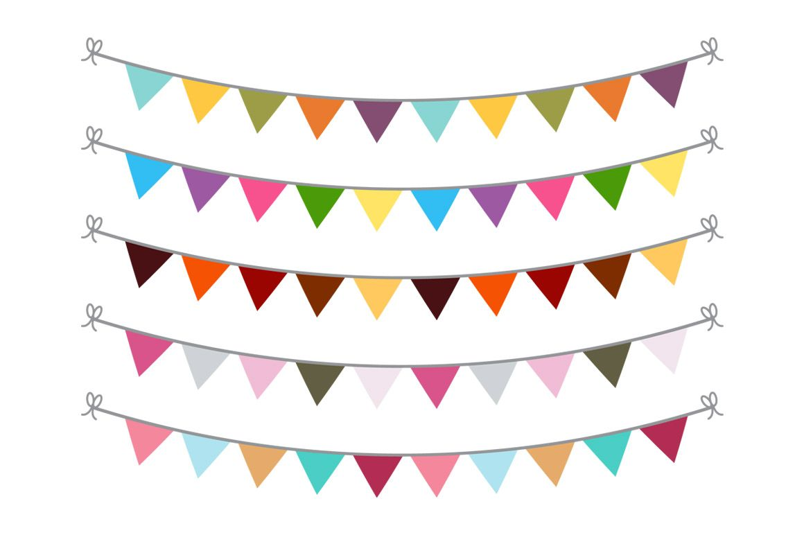 September Banners Clipart | Bunting banner