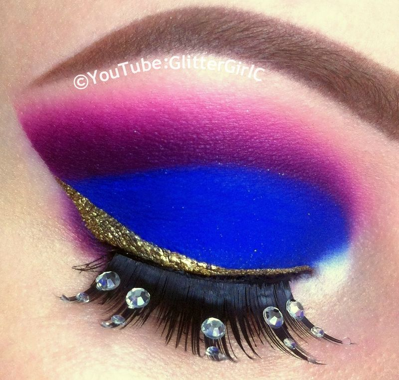 Purple cut crease – Gotta try this(minus the lashes)