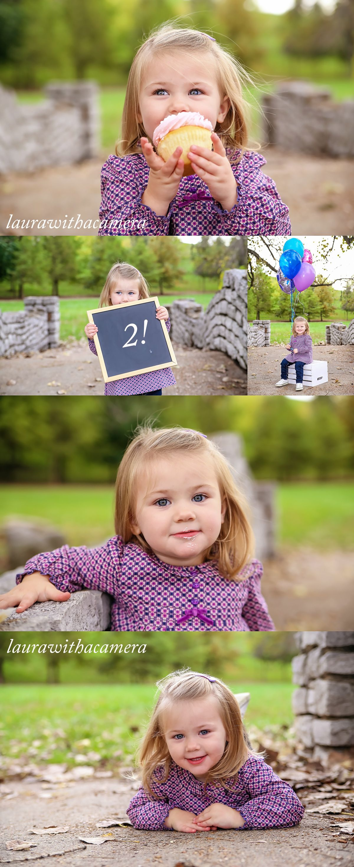 2 Sign Toddler Photo Prop for 2nd Birthday Photos Two Year Milestone