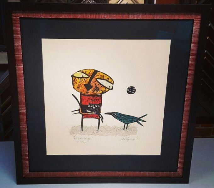 Original art custom framed with acid-free matting, museum glass and ...