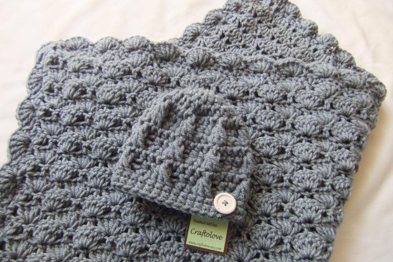 Baby Boy Shower Gift Set - Crochet baby blanket - Baby Boy Blanket ...
