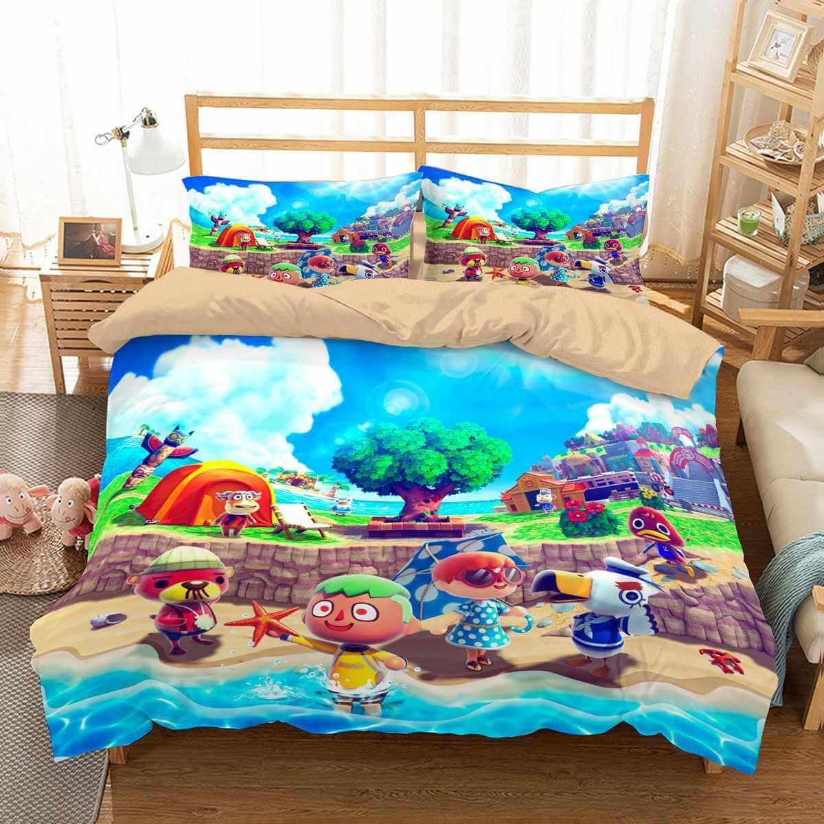 05542fe4d029 3D Customize Animal Crossing Bedding Set Duvet Cover Set Bedroom Set  Bedlinen