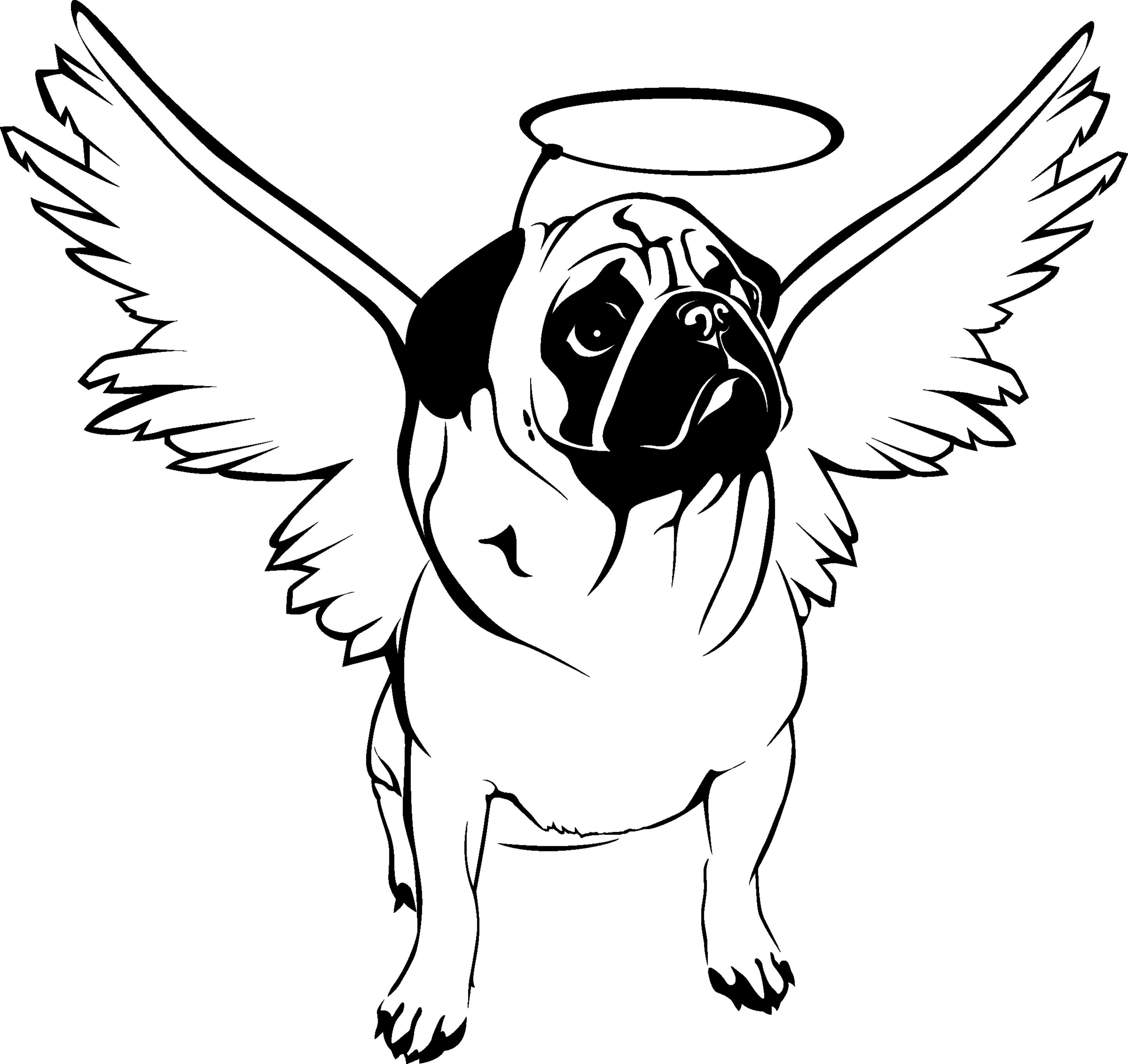 pug animal coloring pages. Angel  Search Pugs Photos Cat Research Pictures Searching Angels Pin by Caroline GKuan on Puggy Pinterest angel Cricut ideas