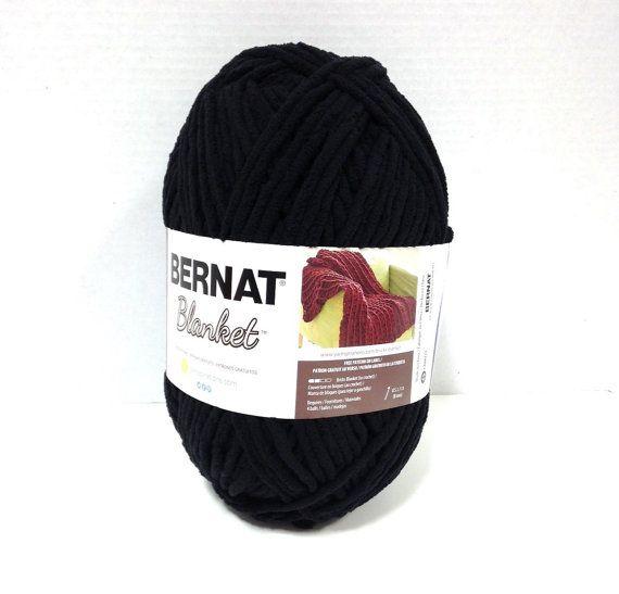 Bernat Blanket Yarn in Coal or Black Large 300 Gram Ball New Home ...