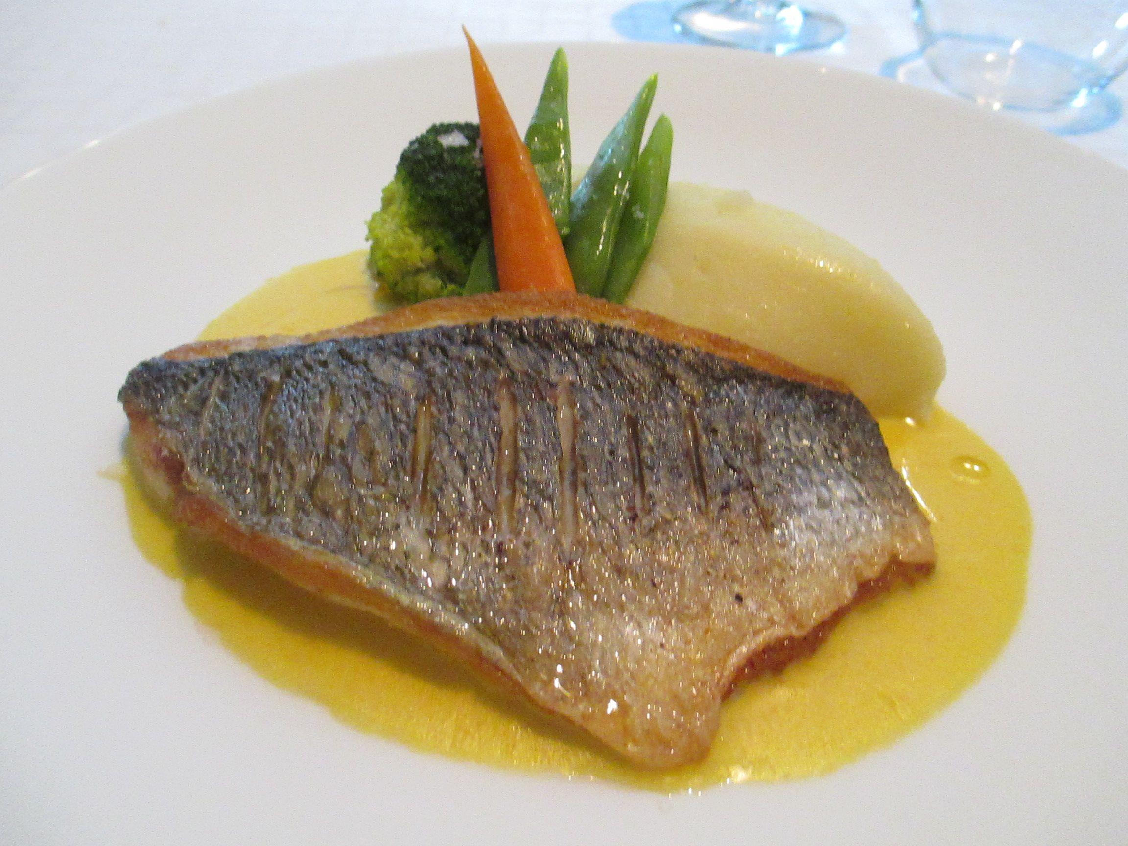 La Table, Altea: Fish with saffron sauce