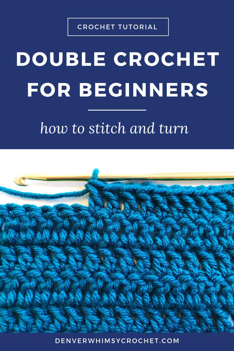 How to Double Crochet | Crochet for Beginners — CROCHET WITH DELIGHT
