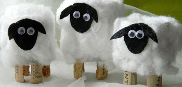 Ovejas lanudas con tubos de papel higi nico manualidades - Como hacer una oveja ...