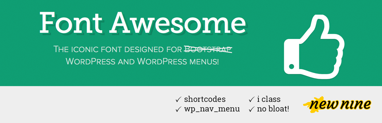 Allows you to add Font Awesome 4 icons to your WordPress