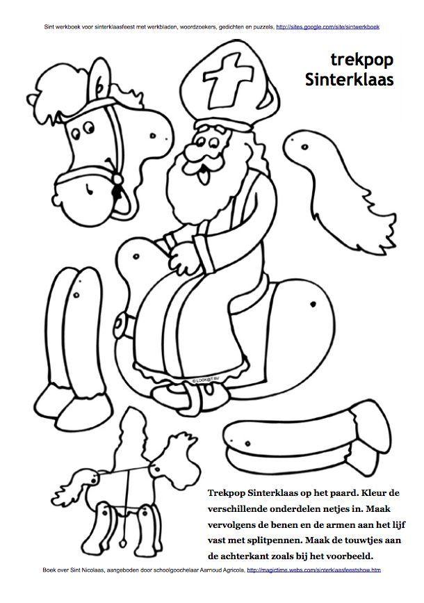 trekpop sinterklaas op paard amerigo sint werkboek
