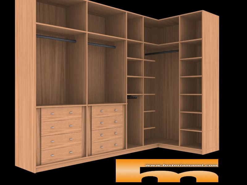 Interiores de armarios empotrados en esquina - Armarios en barcelona ...