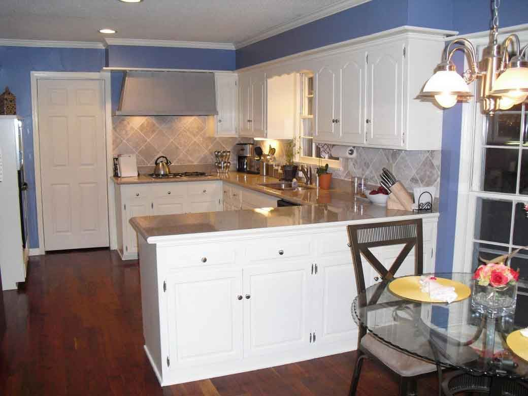 Design Of Kitchens Unique Blue Kitchen Decor With White Cabinets  White Color Of Inspiration