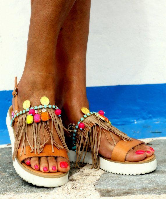 Sandals Ginger handmade to order by ElinaLinardaki on Etsy
