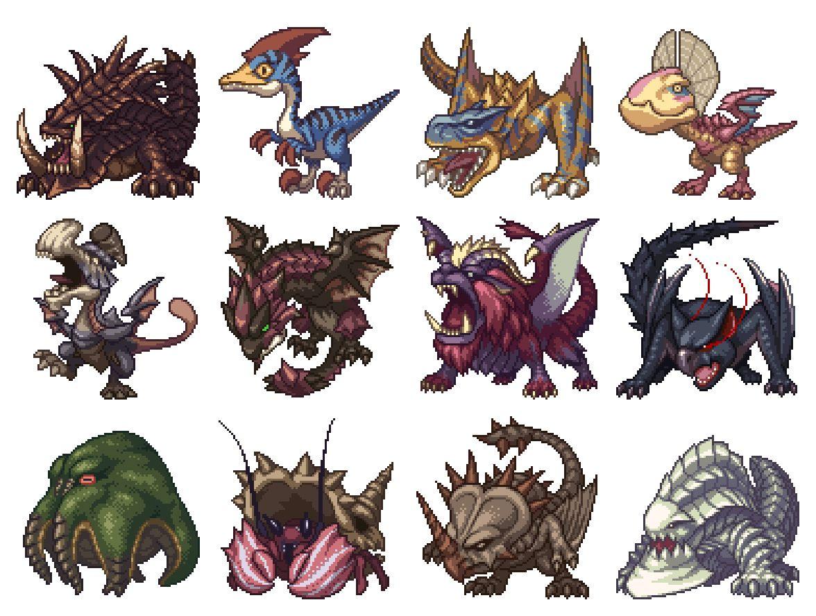 Pixel Art - Monster Hunter