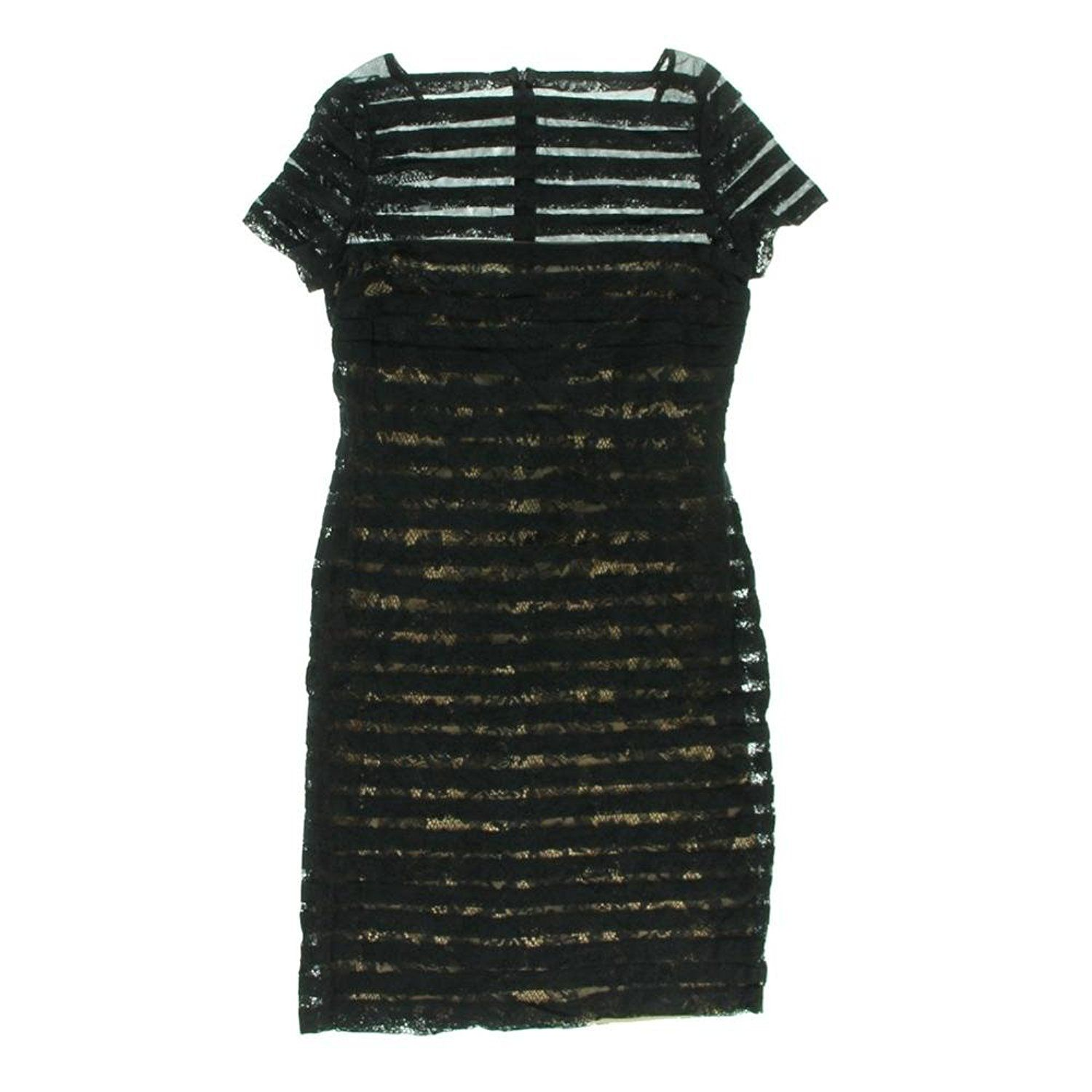 Adrianna Papell Womens Short Sleeves Knee Length Cocktail Dress Wow I Love This Check It Ou Knee Length Cocktail Dress Short Sleeve Dresses Illusion Dress